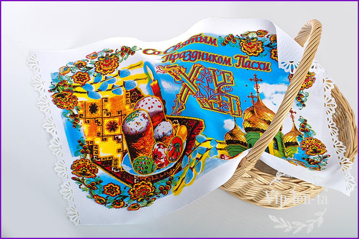 Пасхальная салфетка-с пасочкой краской и глитером